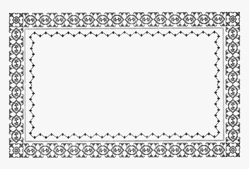 Free Vintage Border Clip Art Vintage Borders In Black And White Png Transparent Png Kindpng