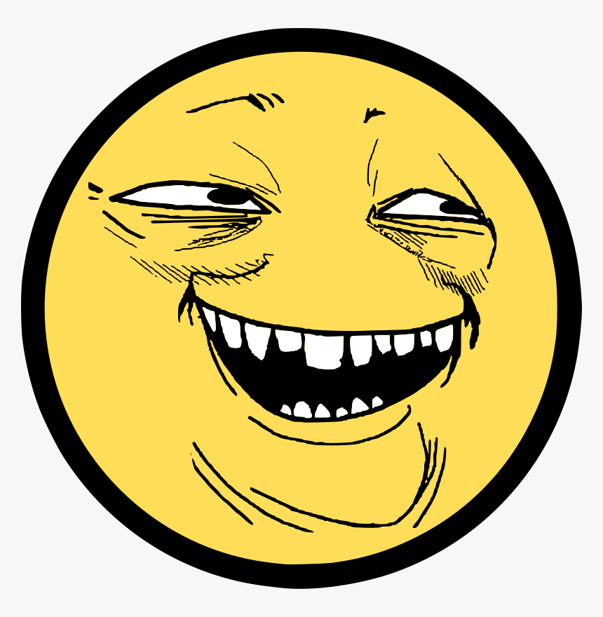 Troll Face Smile - Trollface Smile, HD Png Download, Free Download