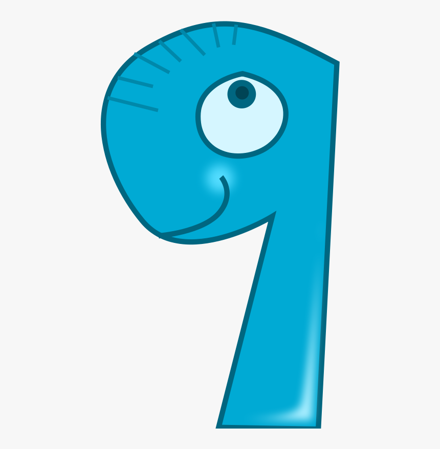 Free Vector Nine - Animal Number 9 Clipart, HD Png Download, Free Download