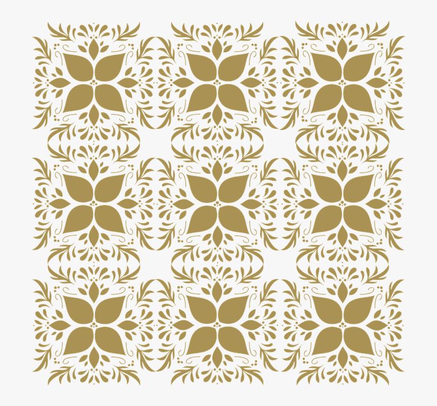Pattern, Gold, Floral, Texture, Design, Decoration - Floral Design, HD Png Download, Free Download