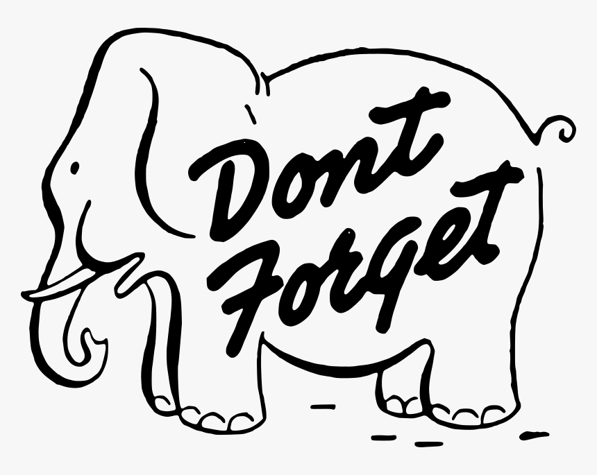 Dont Forget Clip Art Many Interesting Cliparts - Don T Forget Elephant Clipart, HD Png Download, Free Download
