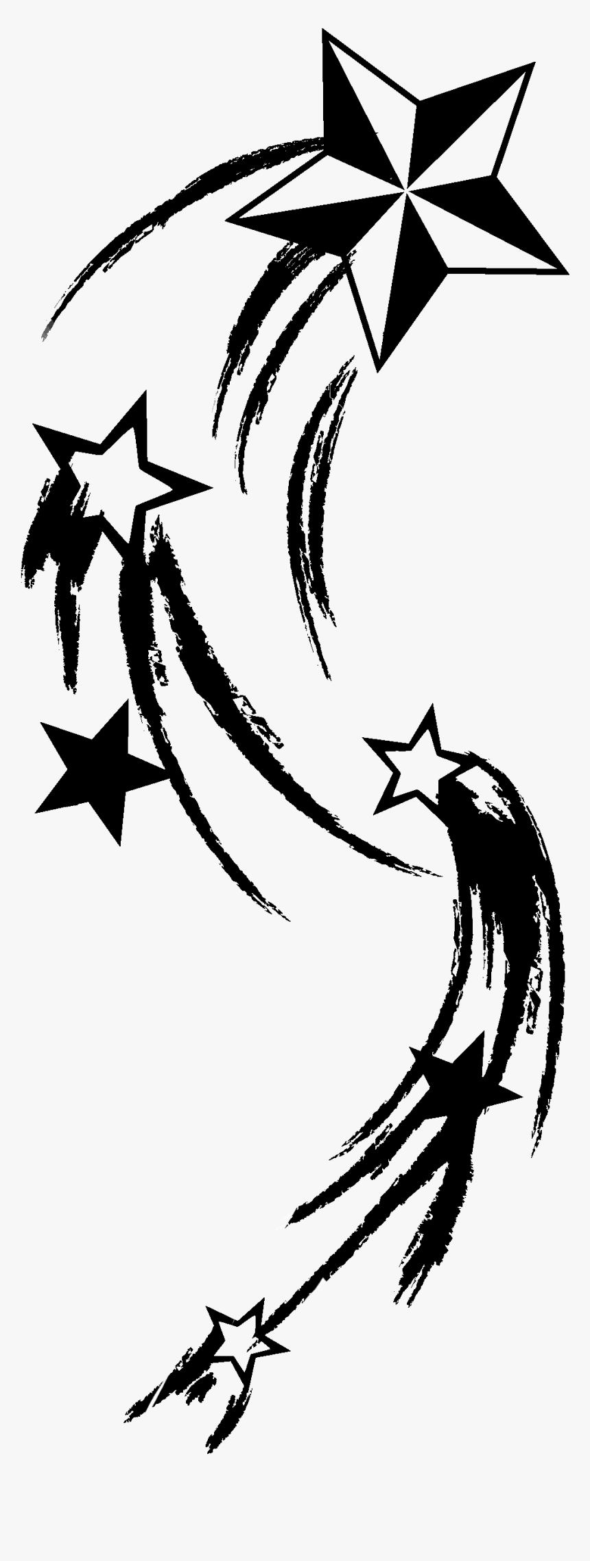Transparent Star Tattoo Png - Shooting Star Tattoo Png, Png Download, Free Download