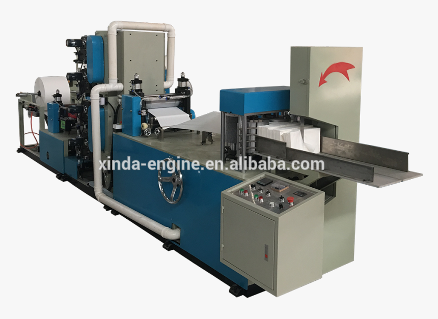 Two Color Printing Tissue Machine Paper Napkin Making - Milling, HD Png Download, Free Download