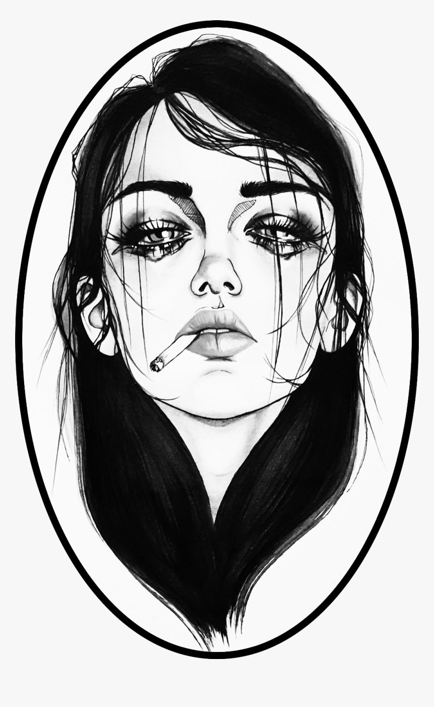 Depressing Sad Girl Drawings, HD Png Download, Free Download