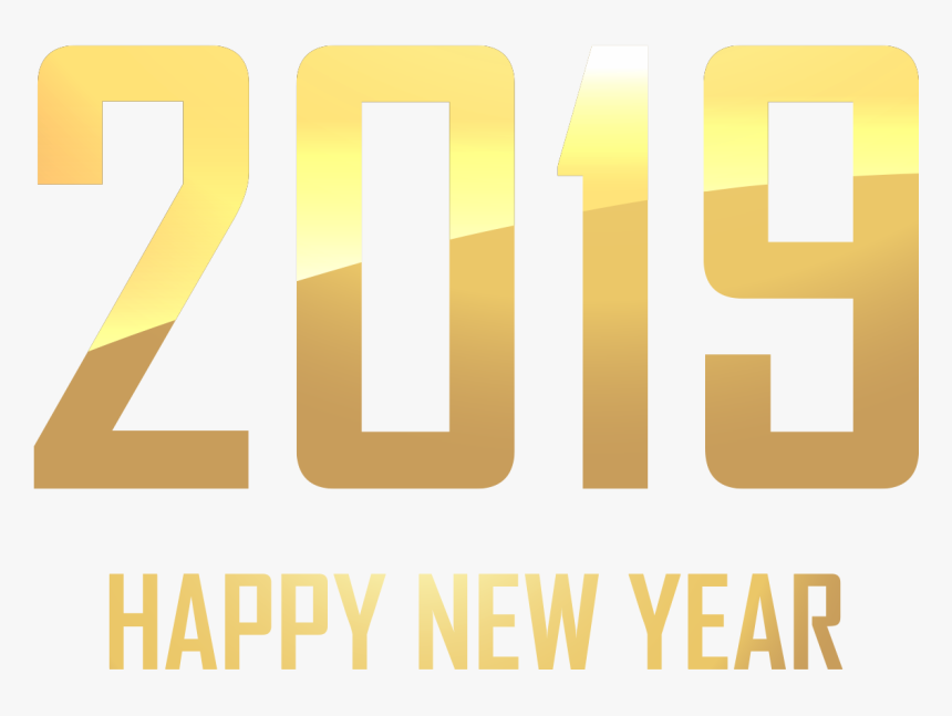 Happy New Year Gold Png, Transparent Png, Free Download