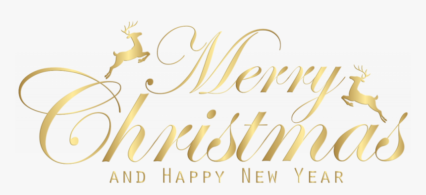 Happy New Year Gold Png -merry Christmas And Happy - Merry Christmas And Happy New Year Png, Transparent Png, Free Download