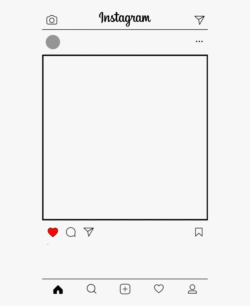 #instragram #tumblr #redessociales #sticker #bts - Instagram Frame Template Png, Transparent Png, Free Download