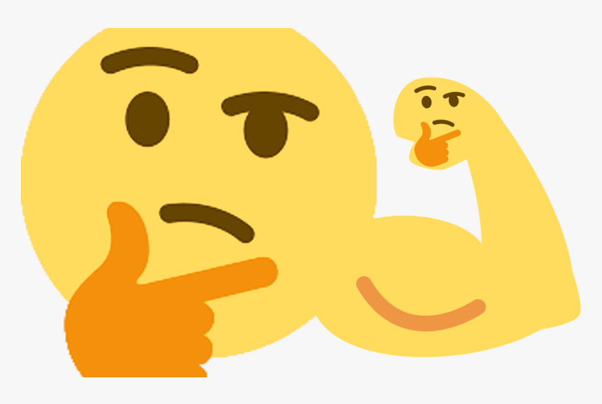 Transparent Meme Clipart - Thinking Emoji Meme, HD Png Download, Free Download
