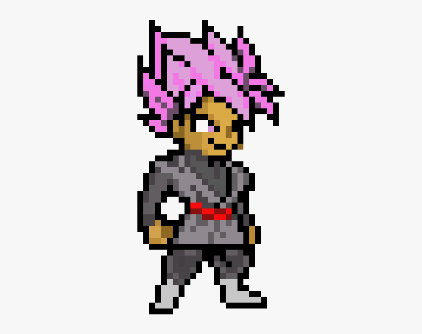 Super Saiyan Rose Goku Black Pixel Art Hd Png Download Kindpng