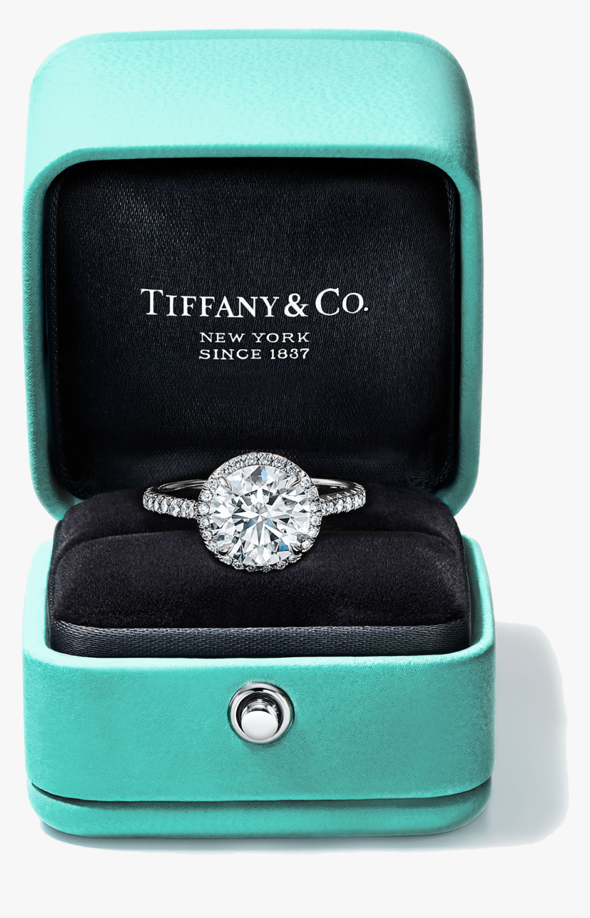 Pre Wedding, Pregnancy, Maternity And Family Photo - Tiffany Engagement Ring In Box, HD Png Download, Free Download
