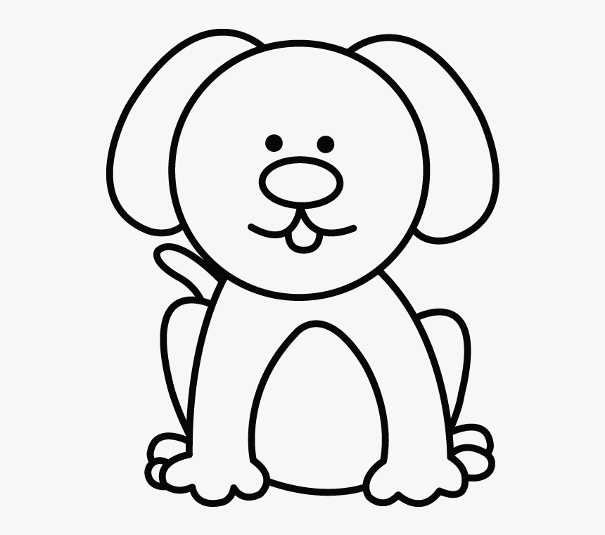 How To Draw A Dog Step Simple Dog Drawings Easy Hd Png Download Kindpng