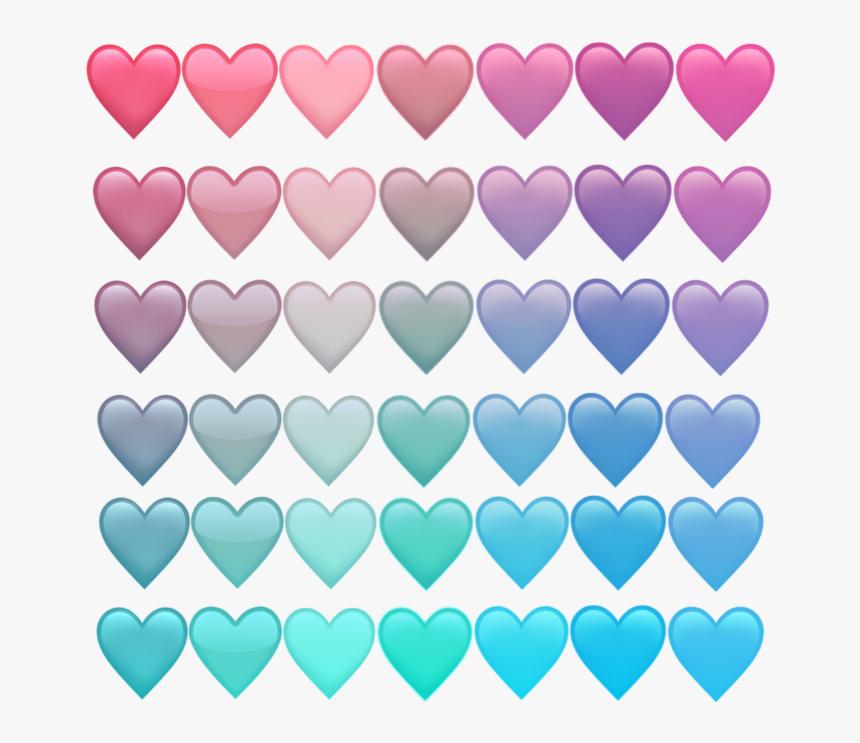#pastel #hearts #emoji #rainbow - Transparent Pastel Heart Emoji, HD Png Download, Free Download
