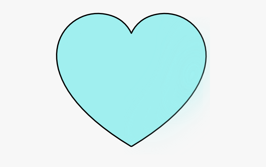 Hearts Clipart Light Blue - Light Blue Heart With Black Background, HD Png Download, Free Download