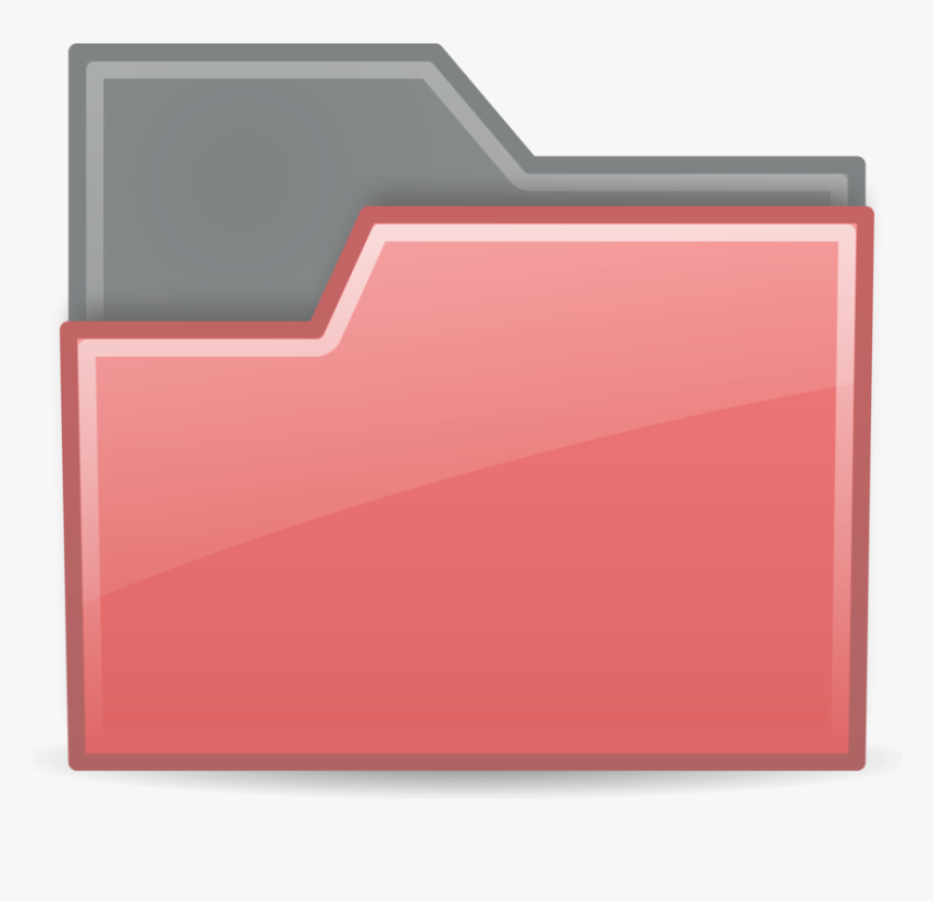 Angle,rectangle,red - Red Transparent Folder Icons, HD Png Download, Free Download