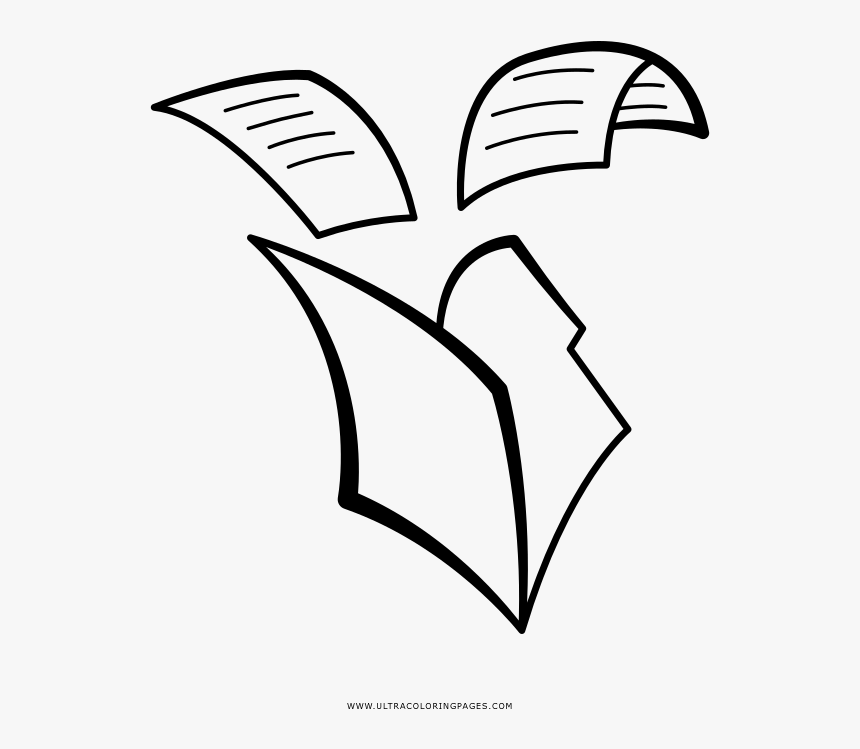 Folder Coloring Page - Line Art, HD Png Download, Free Download