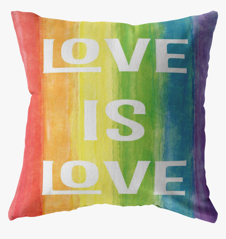 Love Is Love Watercolor Rainbow Design Pillows And - Cushion, HD Png Download, Free Download