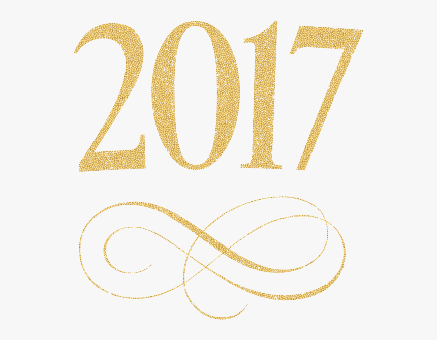 Banner Freeuse Library Class Of 2017 Clipart Free - 2017 Glitter Clip Art, HD Png Download, Free Download