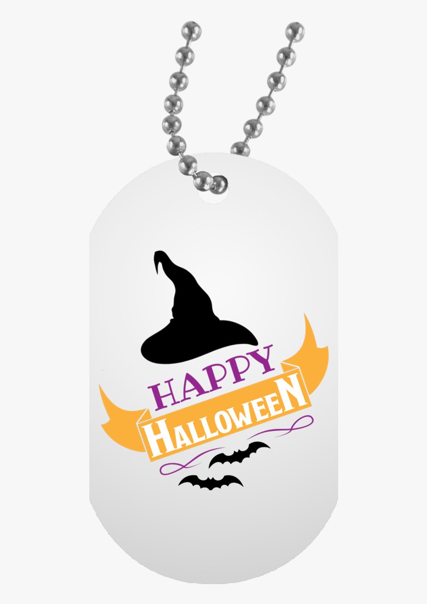 Happy Halloween White Dog Tag Necklace - My Son Never Forget That I Love You, HD Png Download, Free Download