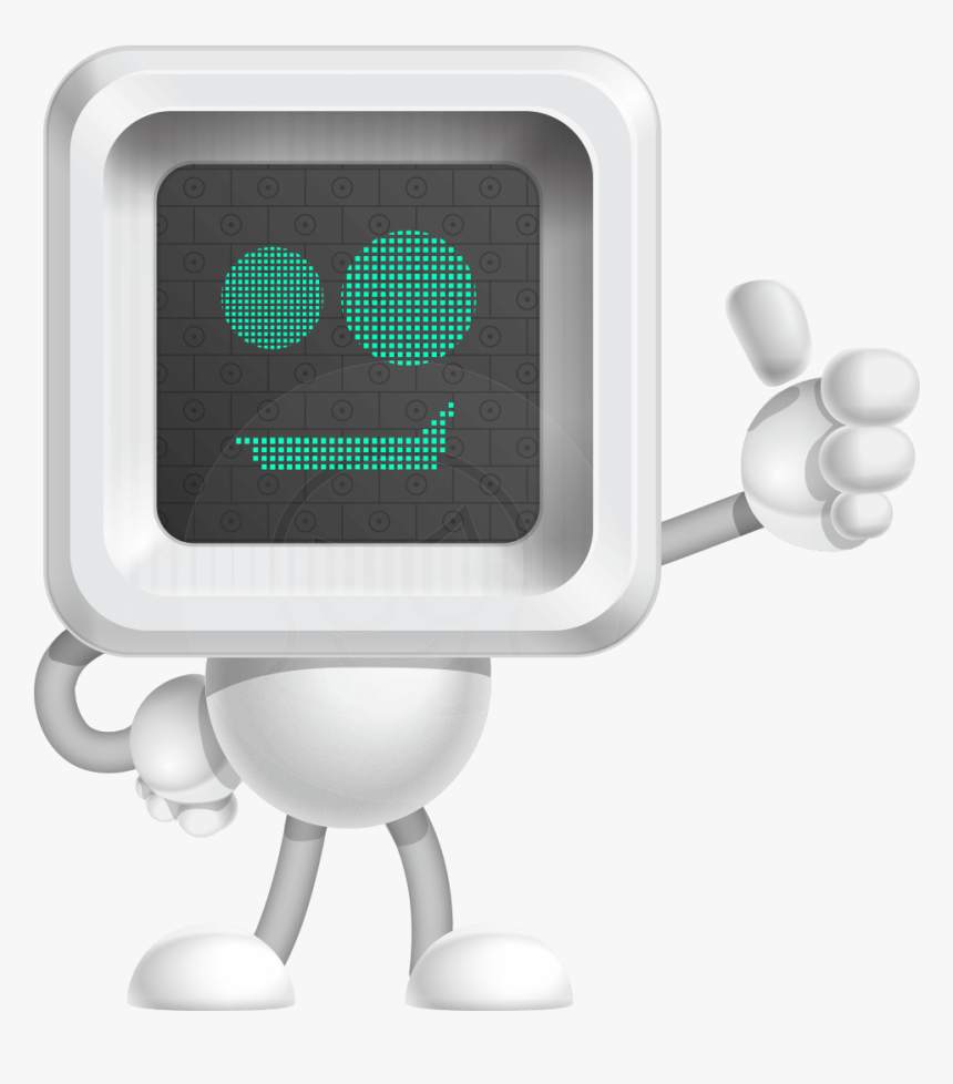 Robot Cartoon Vector Character - Robot With Screen Face, HD Png Download, Free Download