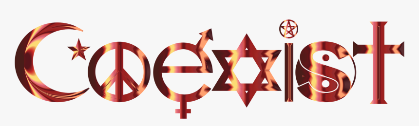 Symbol,sign,logo - Coexist Religion, HD Png Download, Free Download
