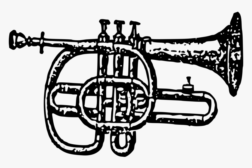 Bugle,musical Instrument,bicycle Drivetrain Part - Cornet, HD Png Download, Free Download