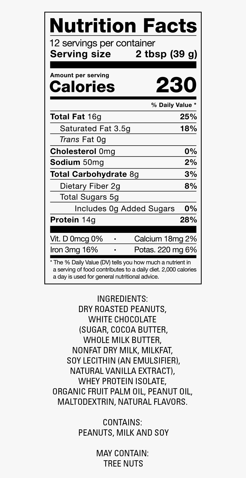 Cream Nutrition Facts, HD Png Download