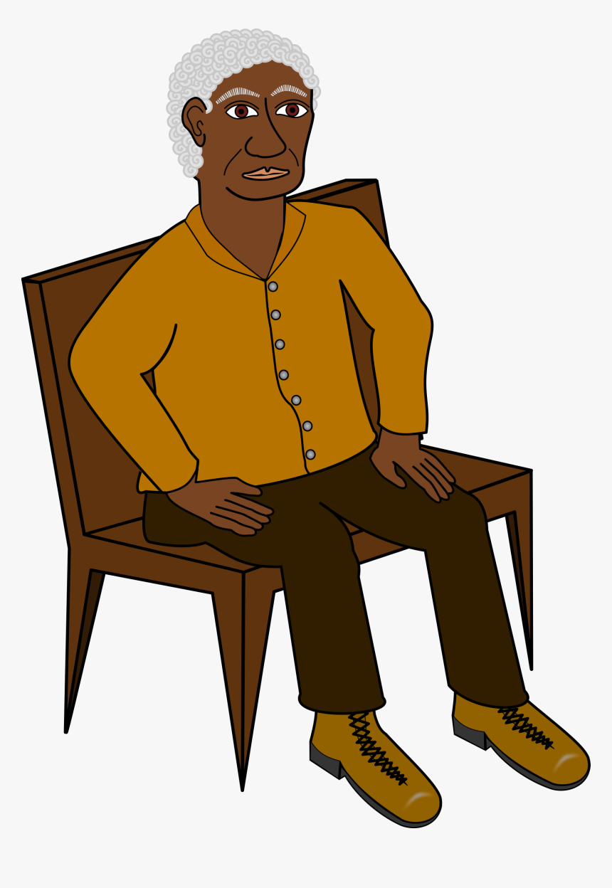 Sitting Big Image Png - Man Sitting On A Chair Clipart, Transparent Png, Free Download