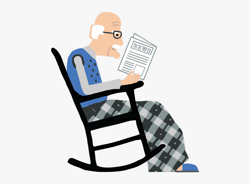 Clip Art Old Man In A Rocking Chair, HD Png Download, Free Download