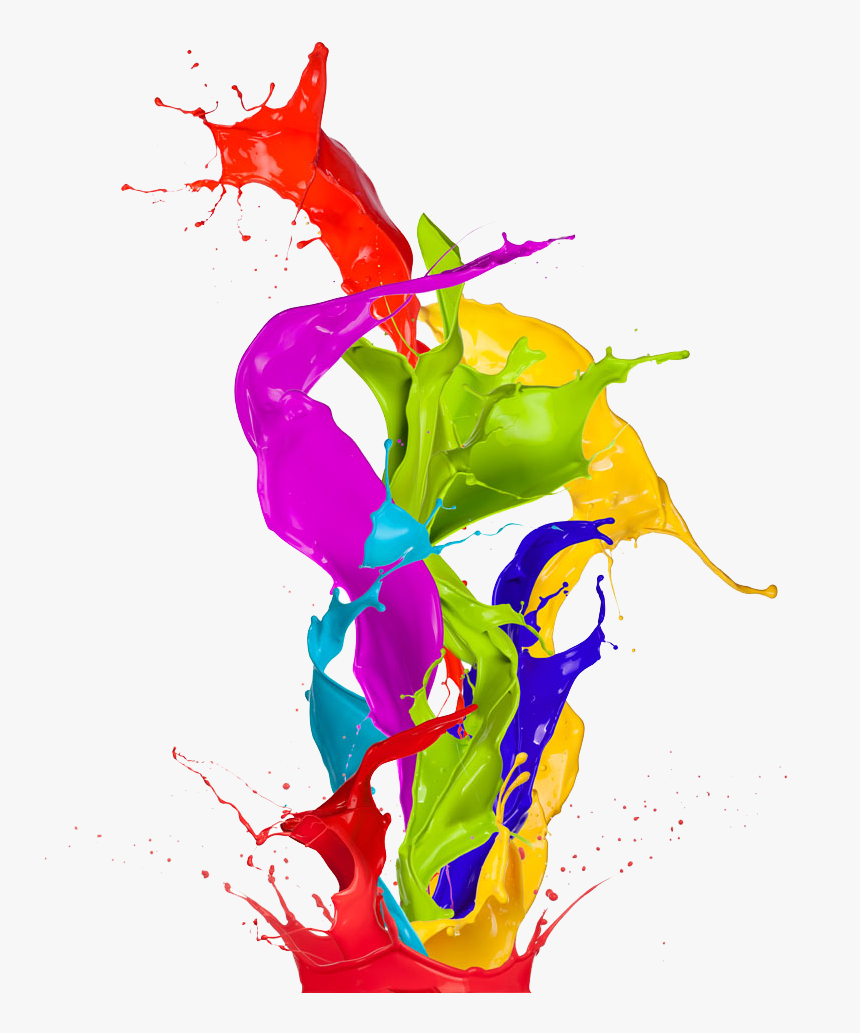 Painted Splashed Art Color Abstract Wallpaper Paint - Painting Color Png, Transparent Png, Free Download