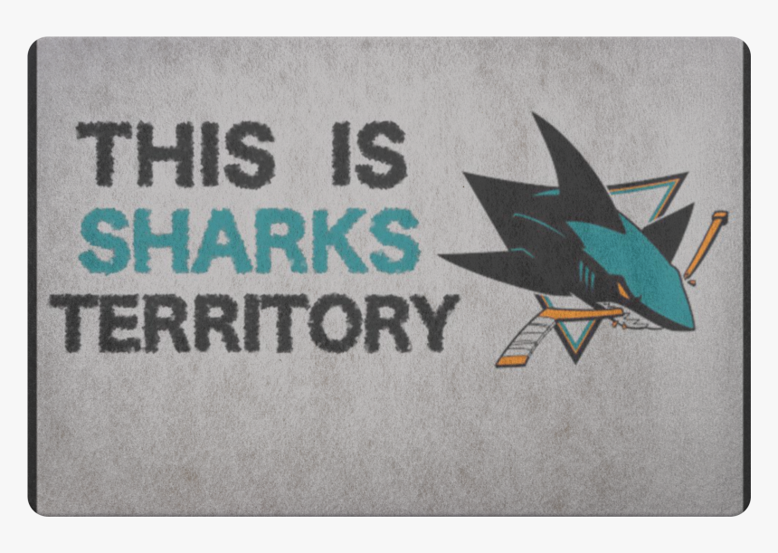 San Jose Sharks Welcome Doormat Hockey Decor Sports, HD Png Download, Free Download