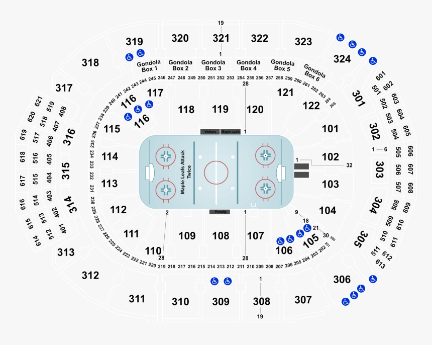 Scotiabank Arena Seating Chart Kiss, HD Png Download, Free Download