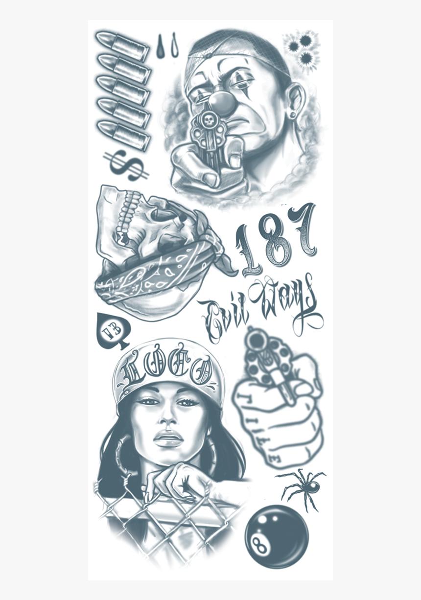 Set Of Gangster Emblems Gangsta Tattoos Old