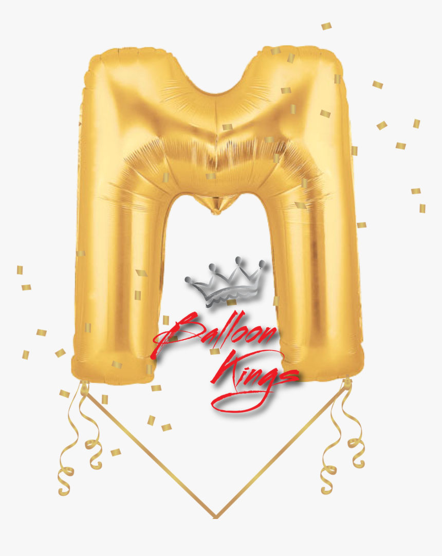 Gold Letter M - M Balloon, HD Png Download, Free Download