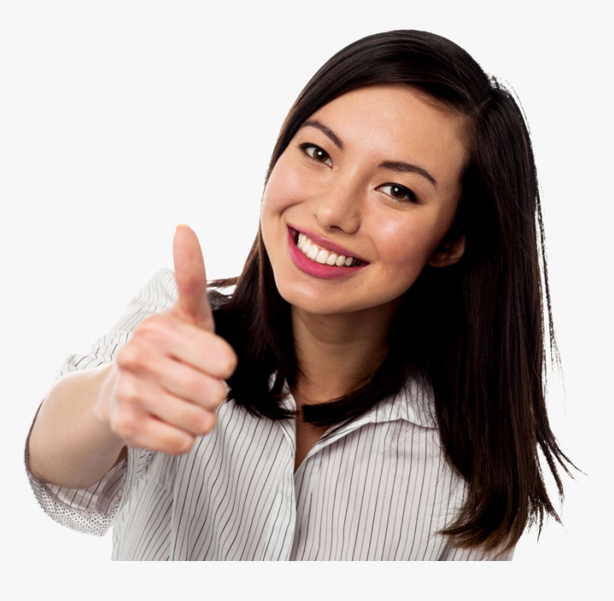 Women Pointing Thumbs Up Png Image - People Thumbs Up Png, Transparent Png, Free Download