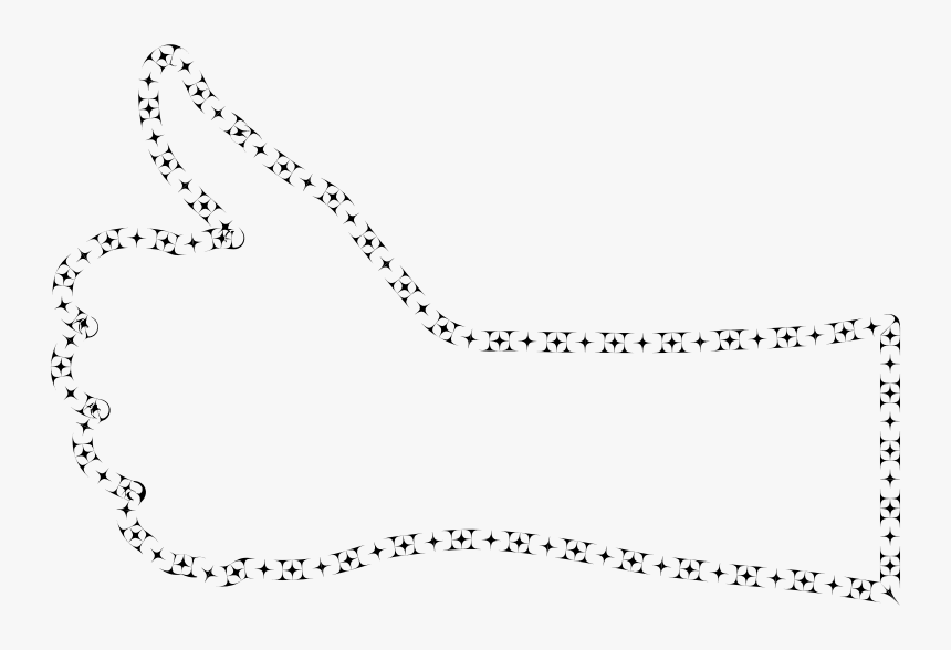 Corner Curves Thumbs Up Hand - Line Art, HD Png Download, Free Download