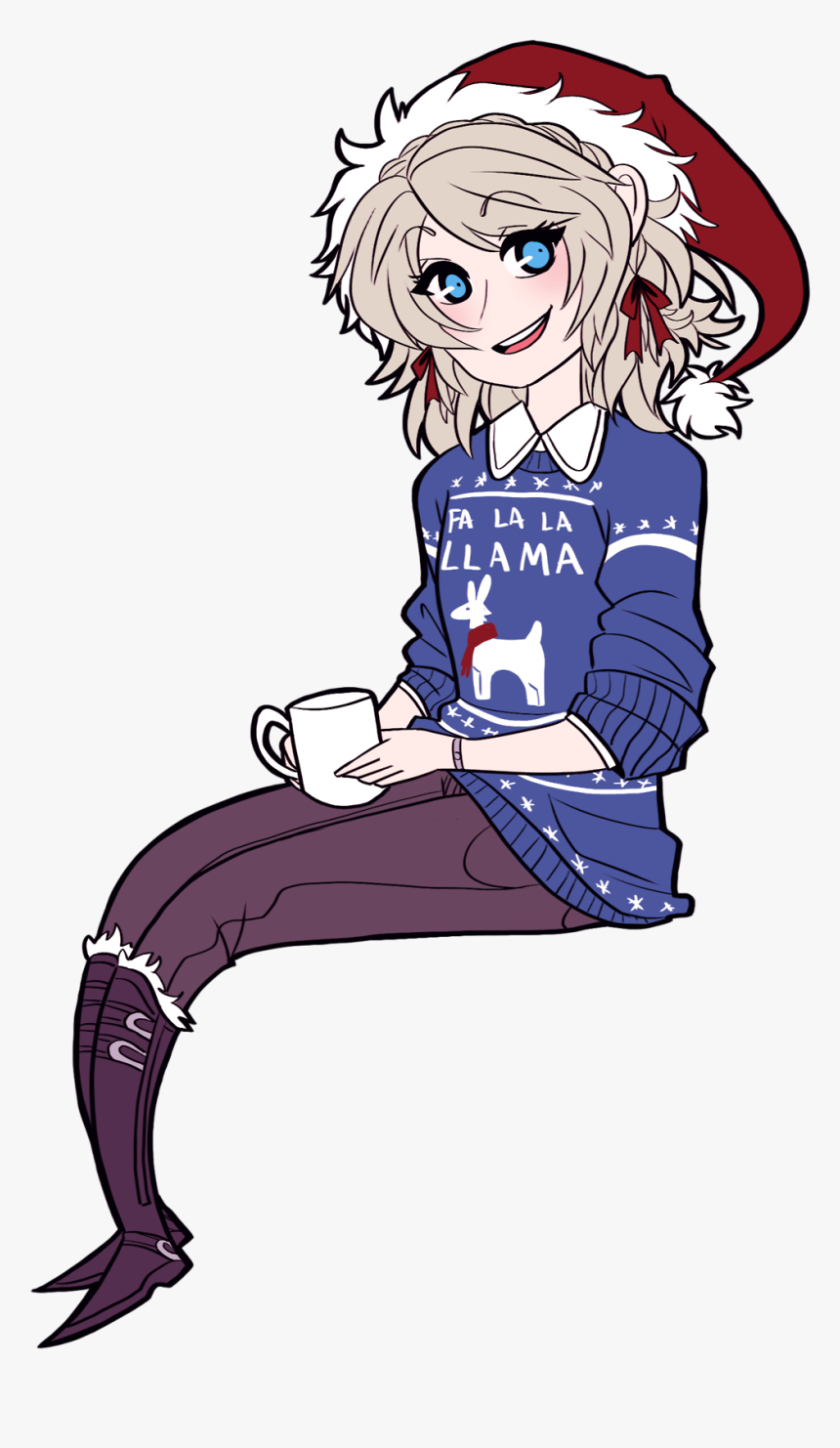 "It""s Ya Girl Luna In An Ugly Christmas Sweater - Anime Girl"