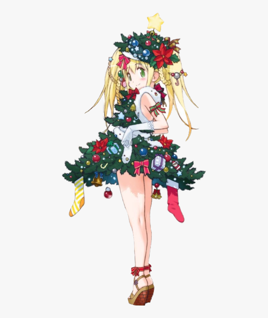 Transparent Contemporary Christmas Tree Clipart - Cute Merry Christmas Anime, HD Png Download, Free Download