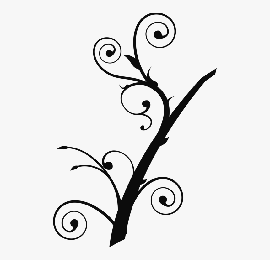 Branch Drawing Tree Silhouette Computer Icons - Tree Branch Clip Art, HD Png Download, Free Download