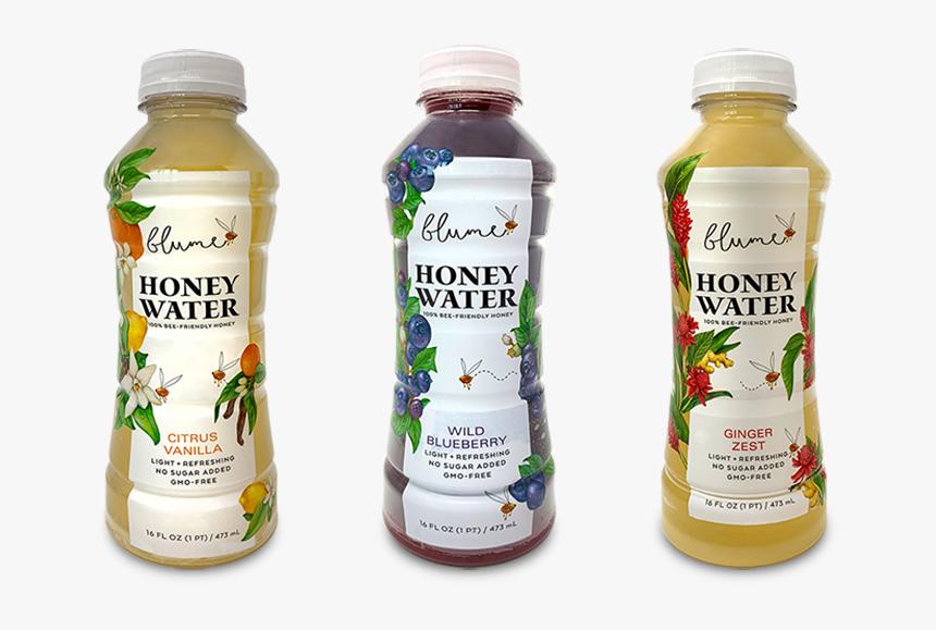 Blume3bottles - Blume Wild Blueberry Honey Water, HD Png Download, Free Download