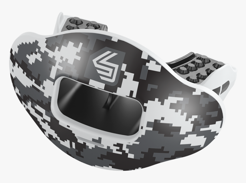 """Black Camo Max Airflow Football Mouthguard """"  Class= - Sport Fit Mouthguard Shock Doctor, HD Png Download, Free Download"""