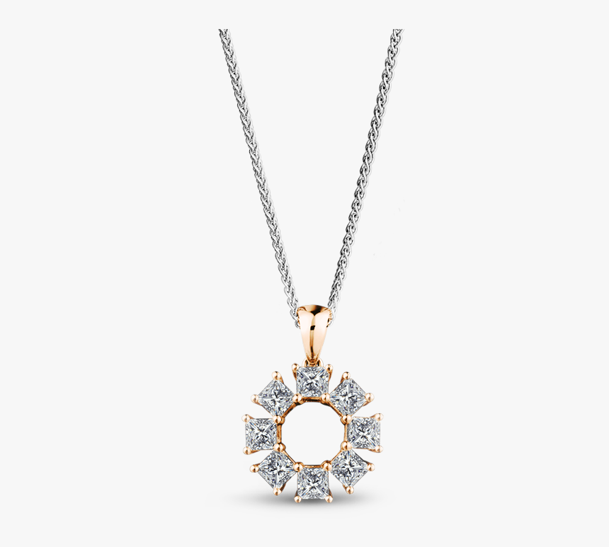 My Girl Lucky 8 Diamond Pendant Set In 18k Rose Gold Chain For Girls Png Transparent Png Kindpng