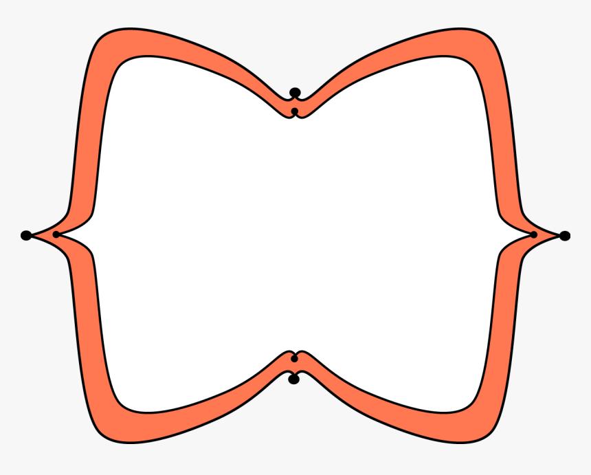 Orange Wide Pointy Frame - Red Label Frame Png, Transparent Png, Free Download