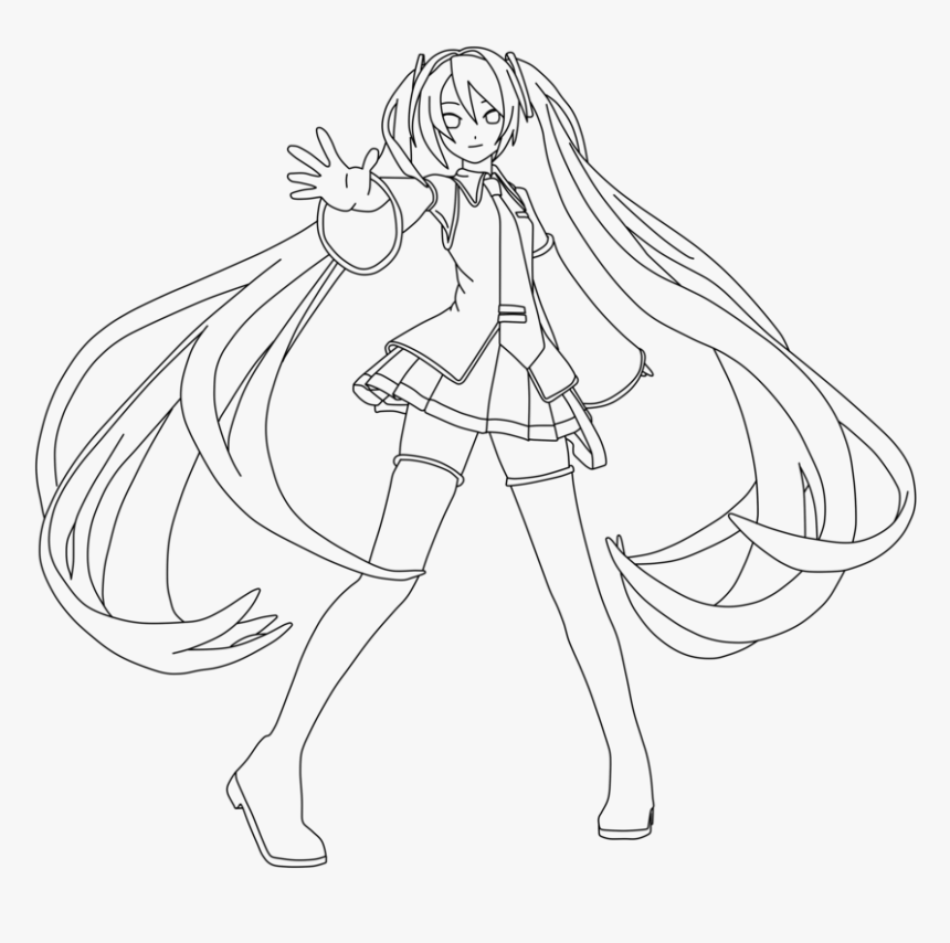 Miku Hatsune Coloring Page By Doremefasoladedo - Anime Coloring ...