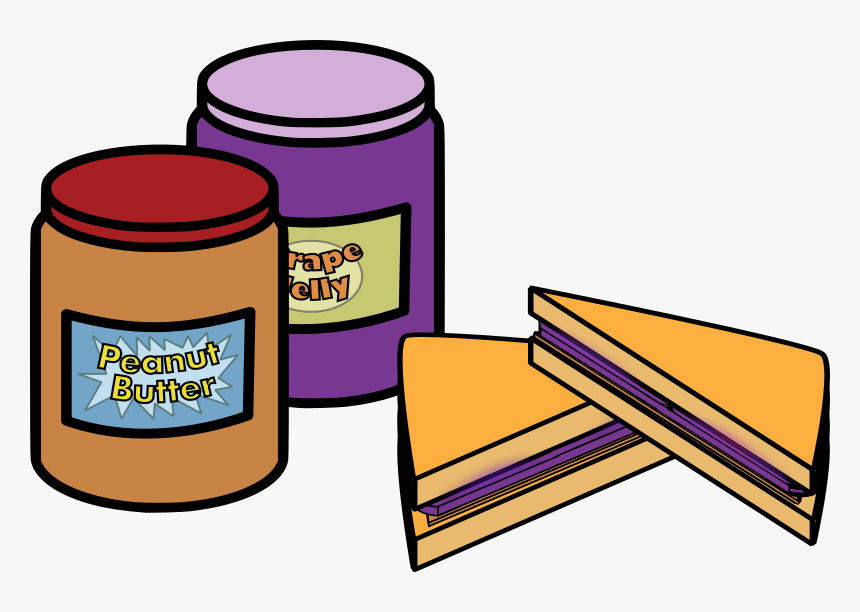 Peanut Butter And Jelly - Clip Art Peanut Butter And Jelly, HD Png Download, Free Download