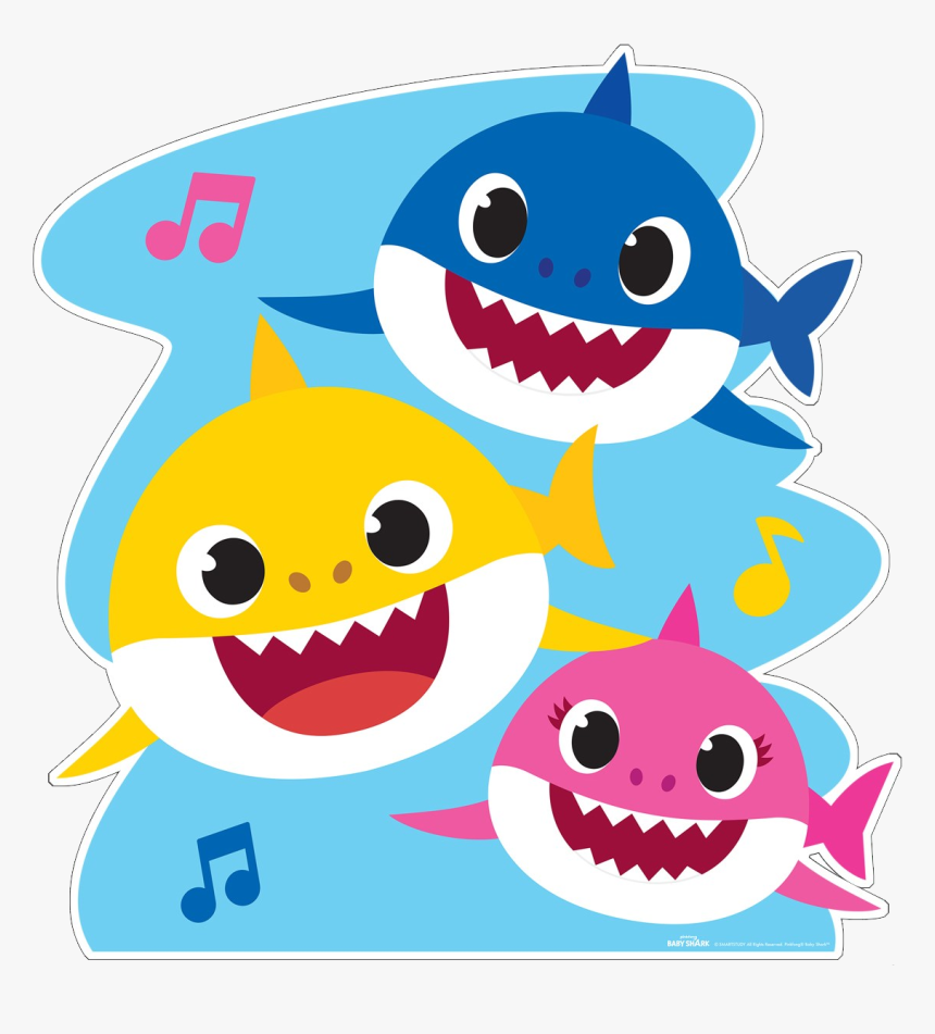 Baby Shark Png - Baby Shark Giant Coloring Pages, Transparent Png - kindpng