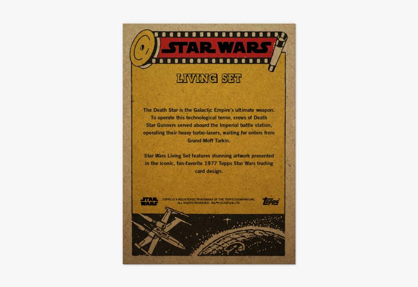 Topps Star War Living Set Card - Topps Vintage Star Wars Cards, HD Png Download, Free Download