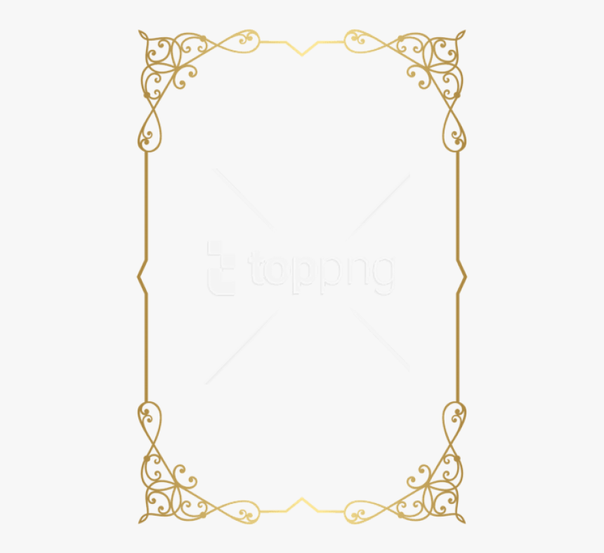 Decorative Frame Png - Gold Border Frame Png, Transparent Png, Free Download