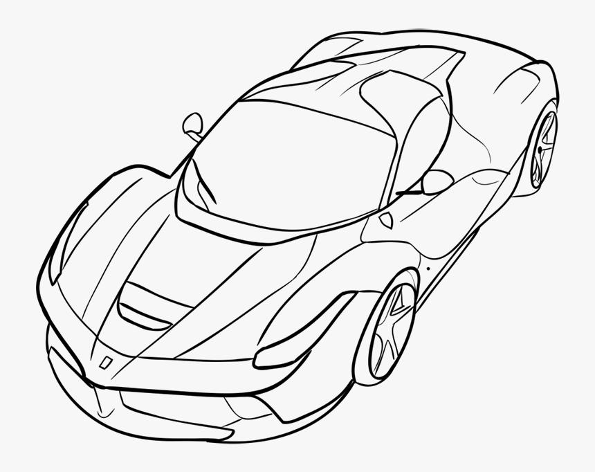 Ferrari Car Easy Drawing