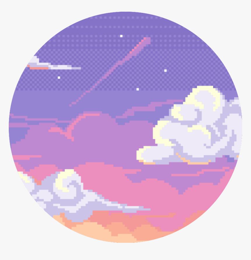 Pixel Aesthetic Vaporwave Tumblr Clouds Sunset Free Pixel