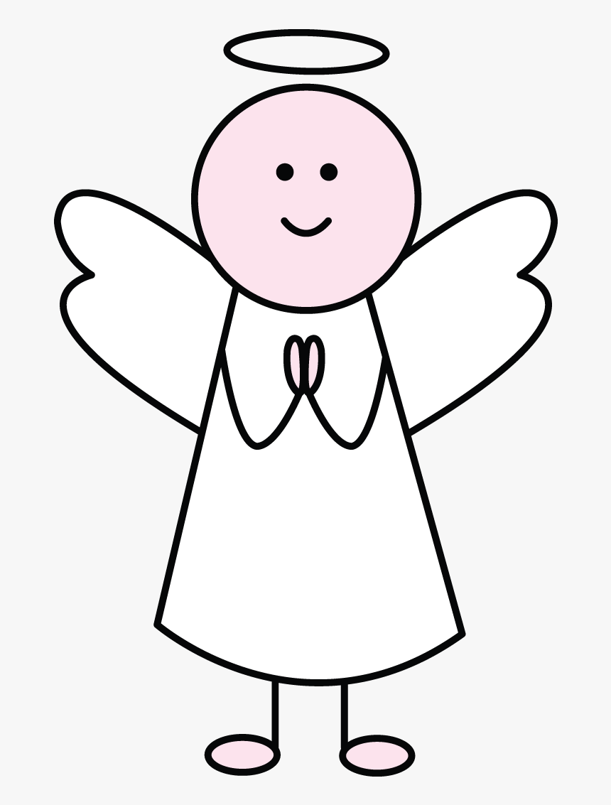 Angel Drawing For Kids Very Easy Transparent Cartoons Cartoon Easy Simple Clipart Angel Hd Png Download Kindpng